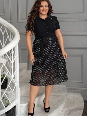 Платье черное в горошек | 5560473