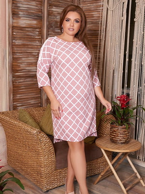 Сукня рожева в ромб | 5560500