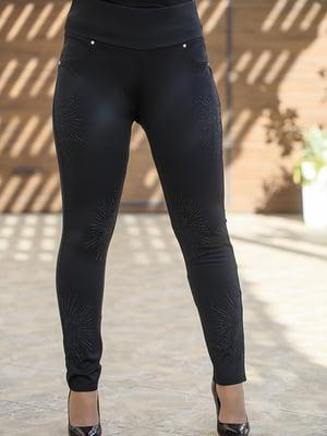 Легінси чорні з декором | 5560635