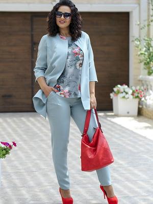 Комплект: жакет, брюки и блуза | 5560651