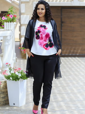 Комплект: кардиган, блуза и брюки | 5560679