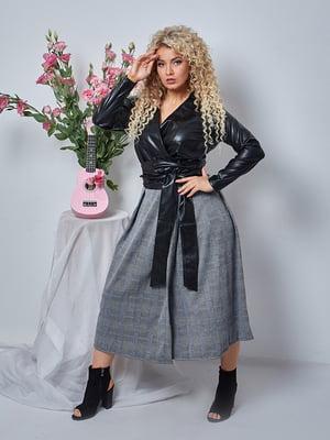 Сукня чорно-сіра в клітинку | 5560715