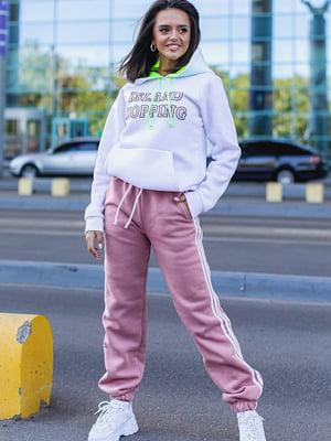 Спортивні штани пудрового кольору | 5560891
