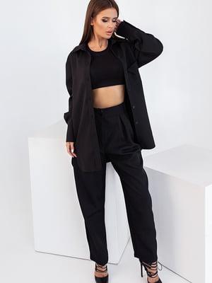 Сорочка-жакет чорна | 5560908