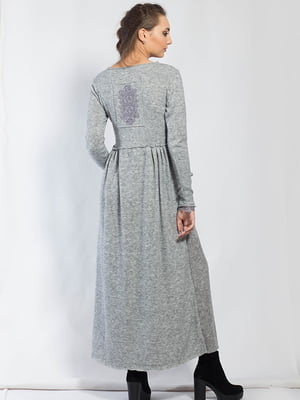 Платье серое с узором | 5561108
