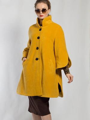 Пальто-разлетайка желтое | 5561126