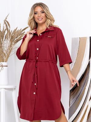 Платье бордовое | 5561000