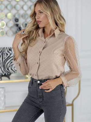 Блуза бежевая | 5561030