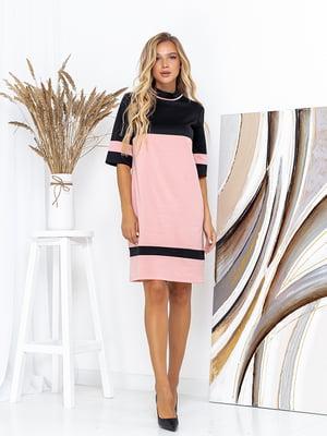 Сукня чорно-рожева | 5561084