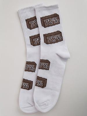 Носки белые с принтом | 5553663