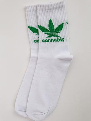 Носки белые с принтом | 5553669