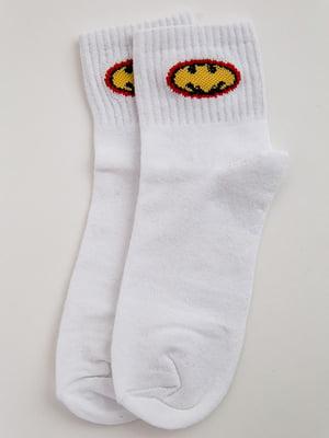 Носки белые с принтом | 5553672