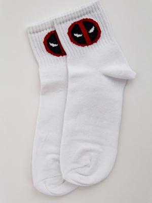 Носки белые с принтом   5553673