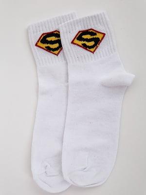 Носки белые с принтом | 5553674