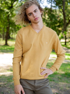 Пуловер горчичного цвета | 5553698