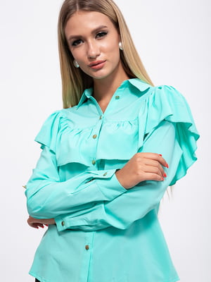 Рубашка мятного цвета | 5553775