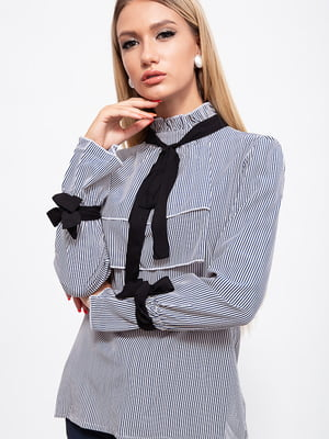 Блуза сине-белая в полоску | 5553854