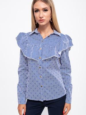 Рубашка сине-белая в полоску | 5553860