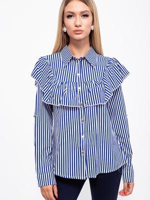 Рубашка сине-белая в полоску | 5553861