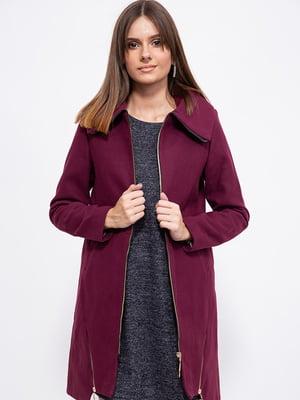 Пальто сливового цвета   5553899
