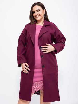Пальто сливового кольору | 5553900