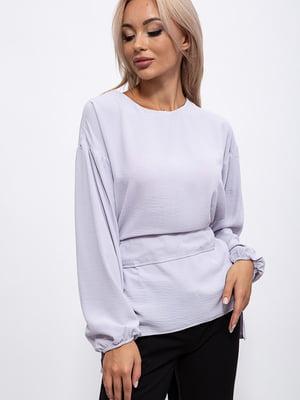Блуза стального кольору | 5553907