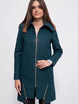 Пальто темно-зеленое   5553912