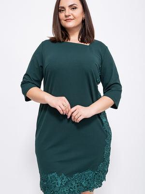 Платье темно-зеленое   5553919