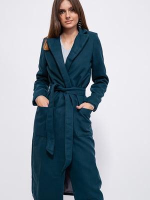 Пальто бирюзовое   5553920