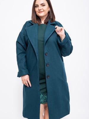 Пальто темно-бирюзовое   5553922