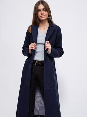 Пальто темно-синее   5553946