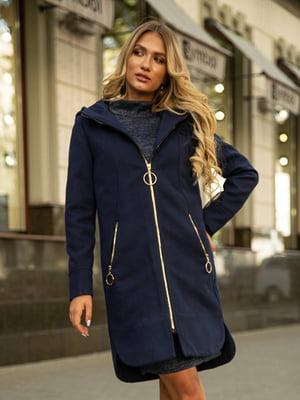 Пальто синее   5553947