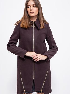 Пальто шоколадного цвета   5554026
