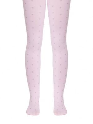 Колготки рожевого кольору в горох | 5357488