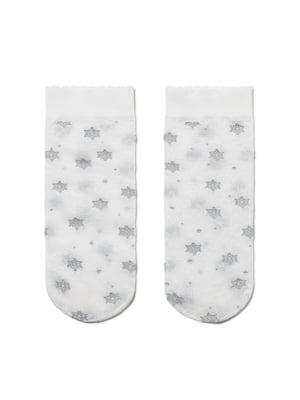 Носки белые с рисунком | 5357834