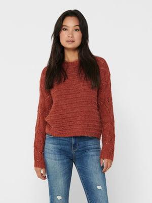 Джемпер кольору червоної охри | 5562262