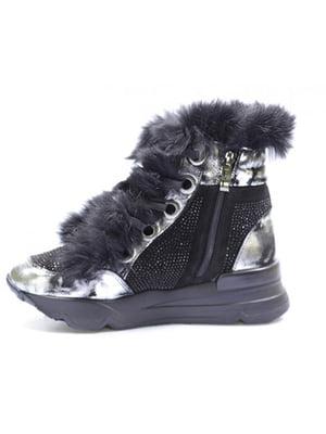 Ботинки черно-серебристые   5563725