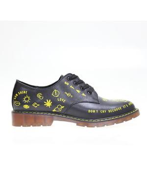 Туфлі чорні з принтом   5563760