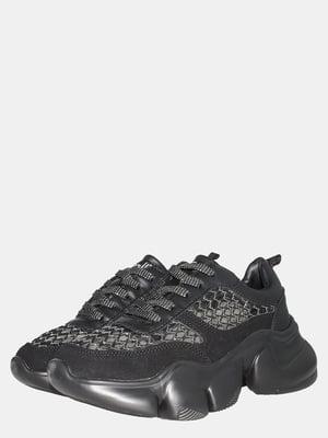 Кроссовки черные с декором | 5552805