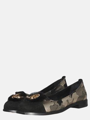 Туфли черные в камуфляжный принт   5554964