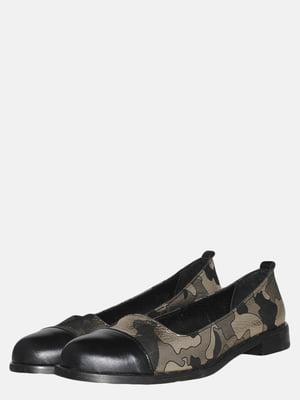 Туфли черные в камуфляжный принт   5554965