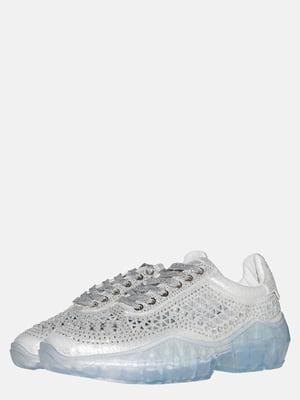 Кроссовки белые с декором | 5555444