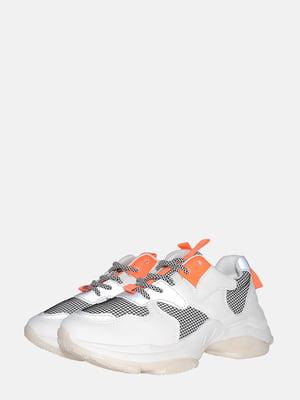 Кроссовки белые с декором | 5559579