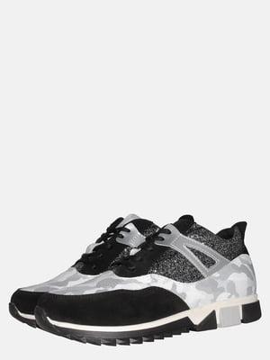 Кросівки чорні в камуфляжний принт | 5561191