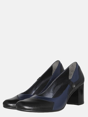 Туфли черно-синие | 5561296