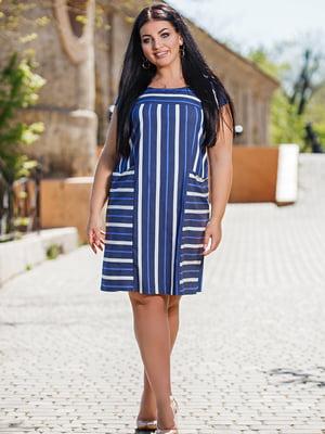Сукня синя в смужку | 5564264