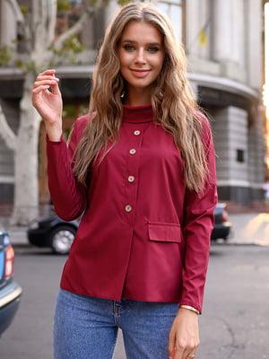 Блуза цвета марсала | 5564936