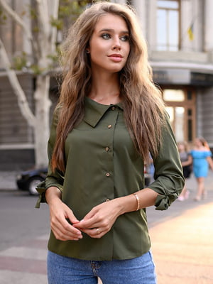 Блуза кольору хакі | 5564941