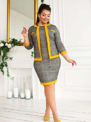 Костюм: сукня і жакет | 5564960