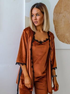 Пижама: топ, брюки и халат | 5564965